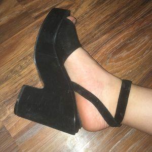 Punk chunky platform heels